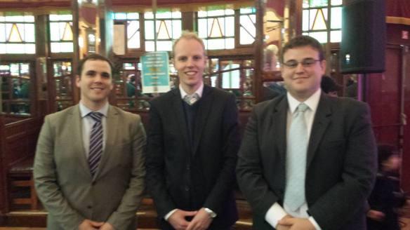 EFAy president Roccu Garoby, coordinator Olrik Bouma, and bureau member Pablo Peñuela Romero