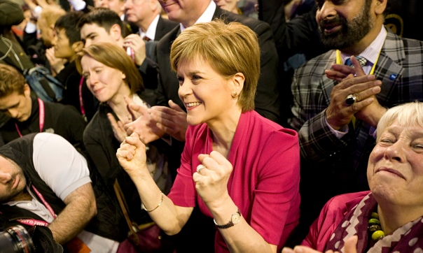 Nicola Sturgeon celebrates Glasgow election result